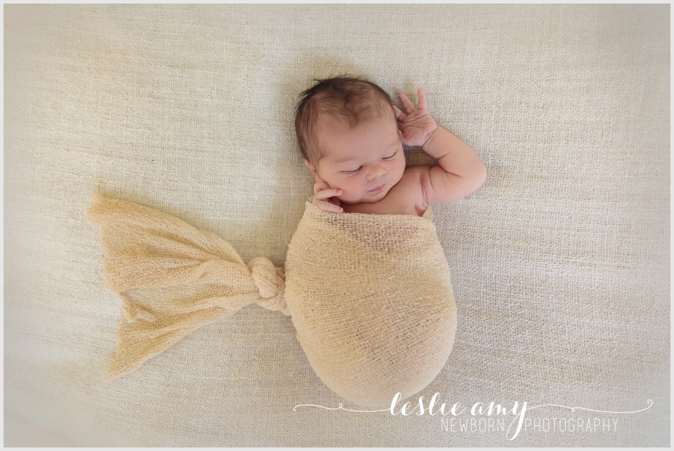 Ezra, 7 Days Old | Leslie Amy Photography | Conway Newborn Photographer