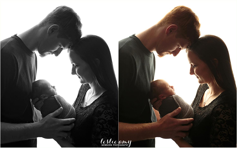 backlighting parent newborn photography