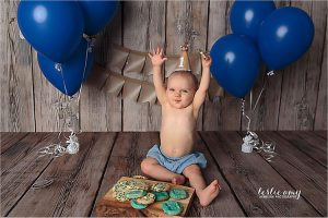 first birthday milestone photography